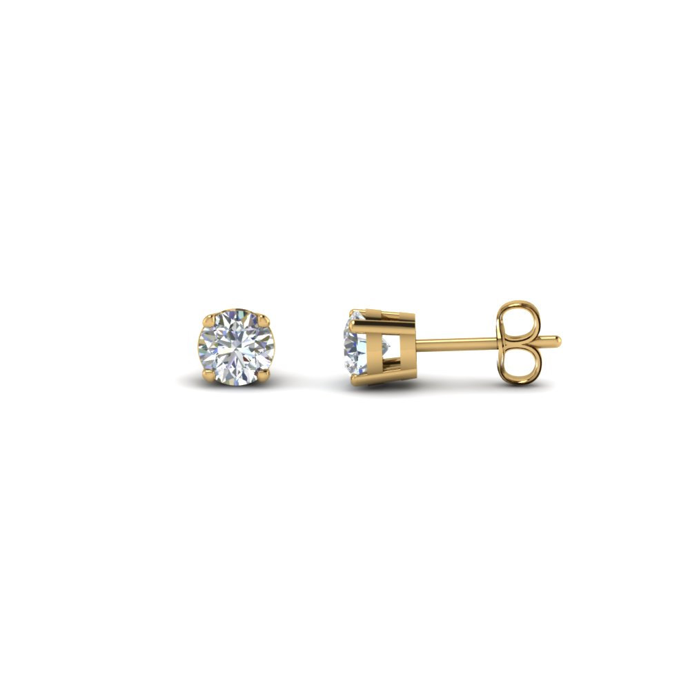 1 Ct. Round Diamond Earring