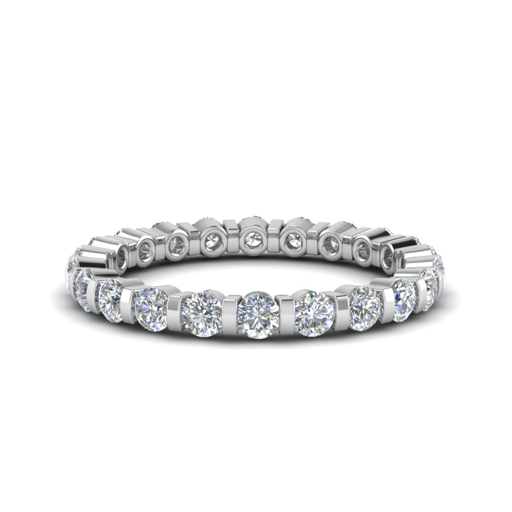 1 Ct. Round Cut Single Row Eternity Ring