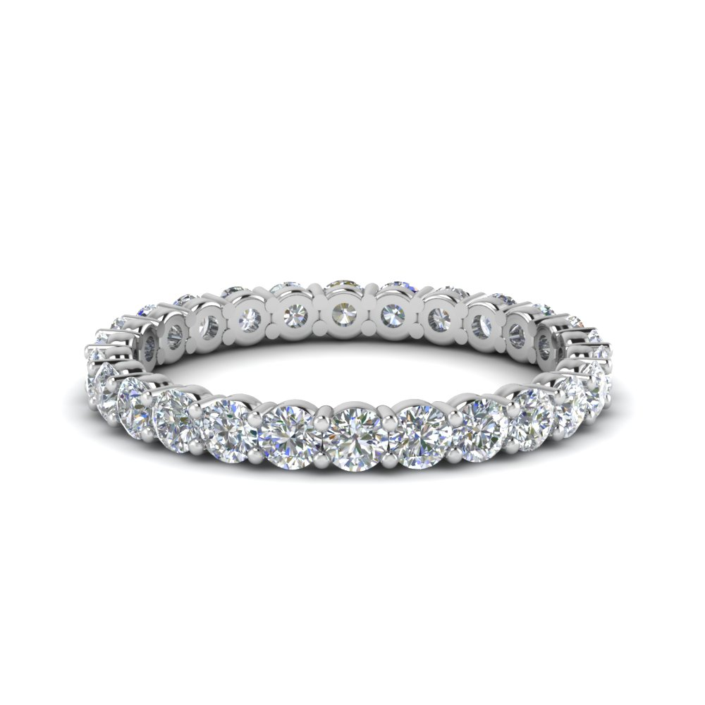 1 carat round eternity anniversary diamond ring in FDEWB8387 1.0CTB NL WG