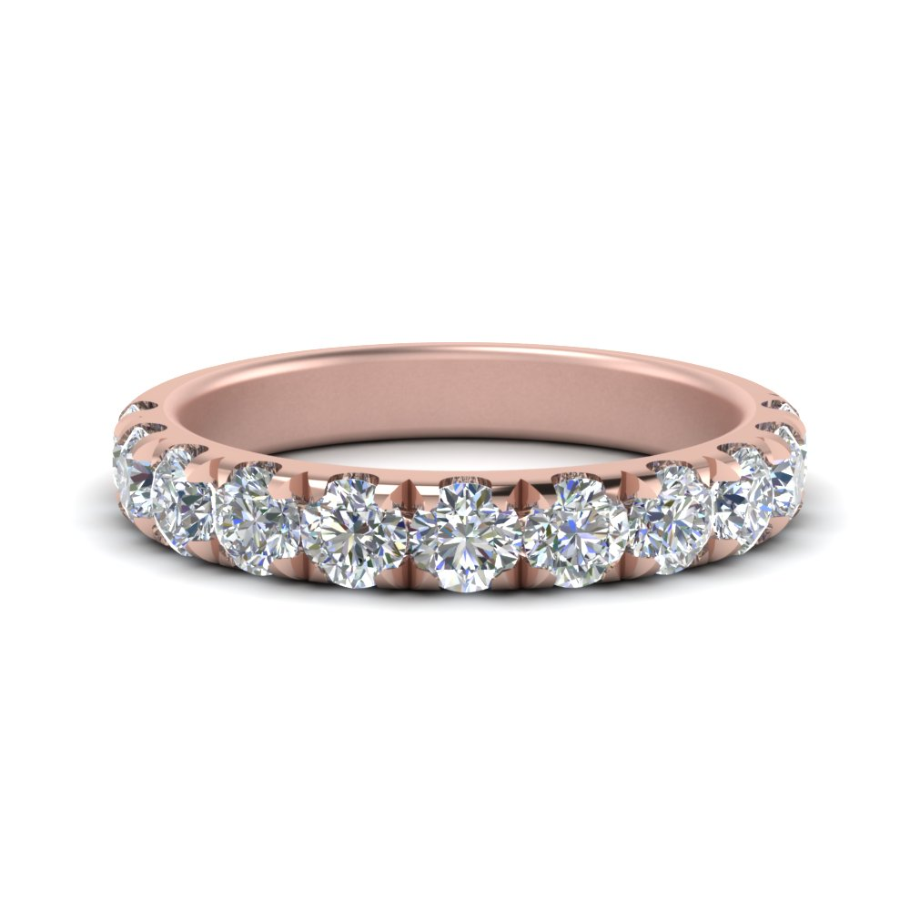 1 Carat Scalloped Diamond Wedding Band