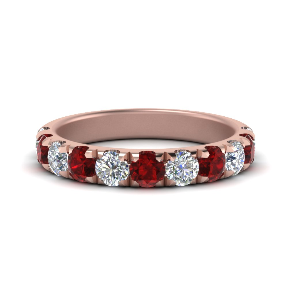 1-carat-scalloped-diamond-wedding-band-with-ruby-in-FD123883RO(3.00MM)GRUDR-NL-RG