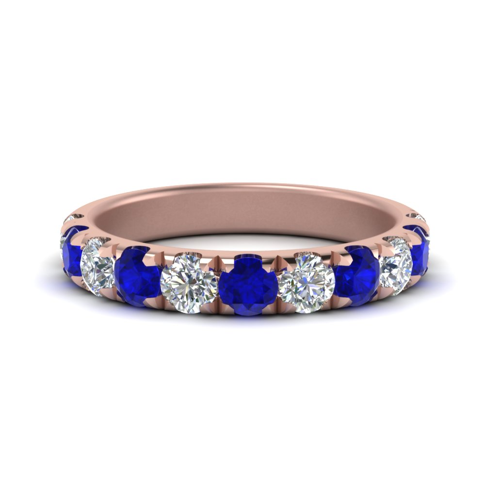 1-carat-scalloped-diamond-wedding-band-with-sapphire-in-FD123883RO(3.00MM)GSABL-NL-RG