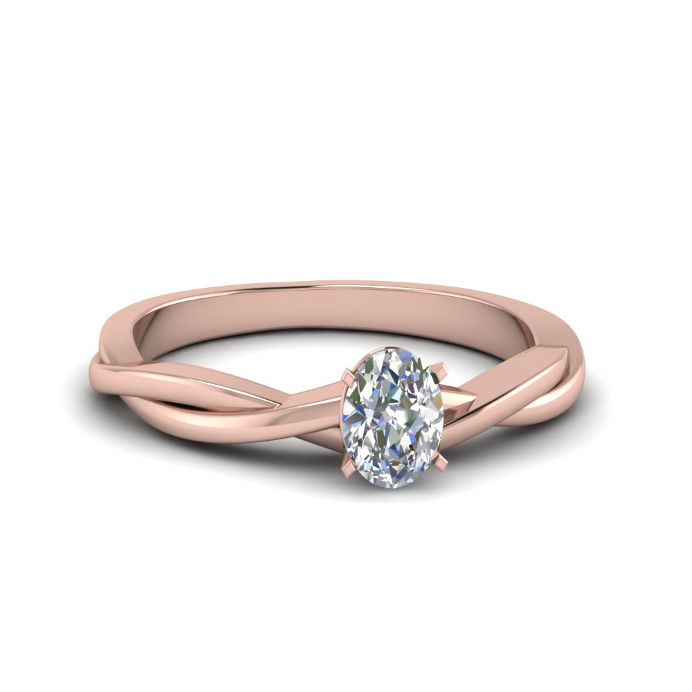 1 carat twisted vine petite diamond ring in 14K rose gold FD8252OVR NL RG