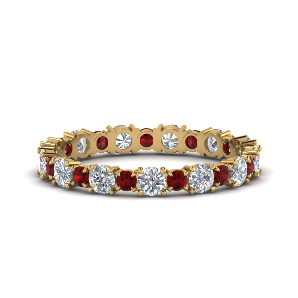 1-carat-unusual-round-diamond-eternity-band-with-ruby-in-FD123628RO(2.50MM)GRUDR-NL-YG