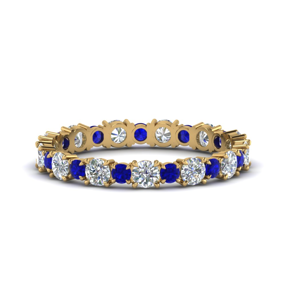 1-carat-unusual-round-diamond-eternity-band-with-sapphire-in-FD123628RO(2.50MM)GSABL-NL-YG