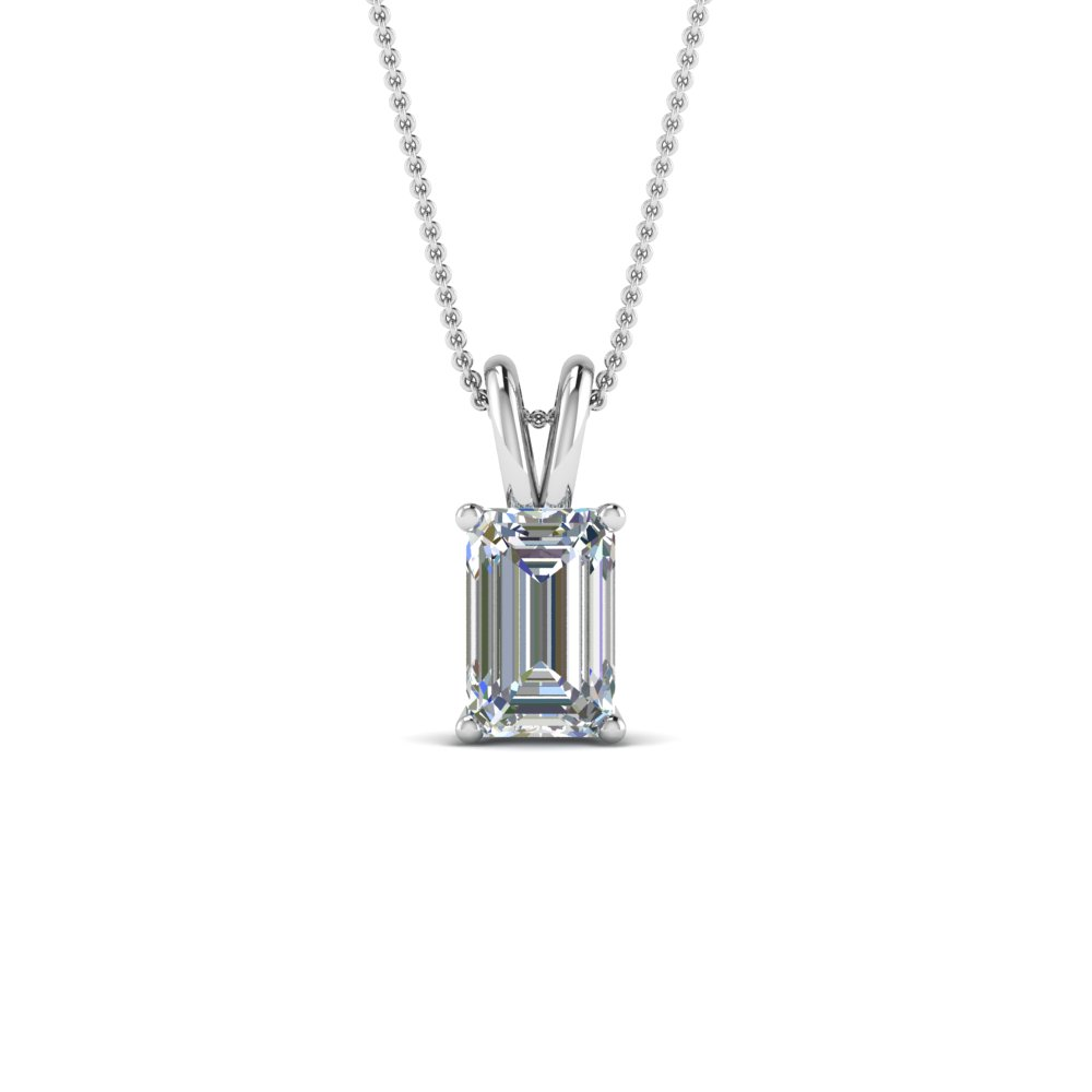 1 Ct. Emerald Cut Diamond Pendant