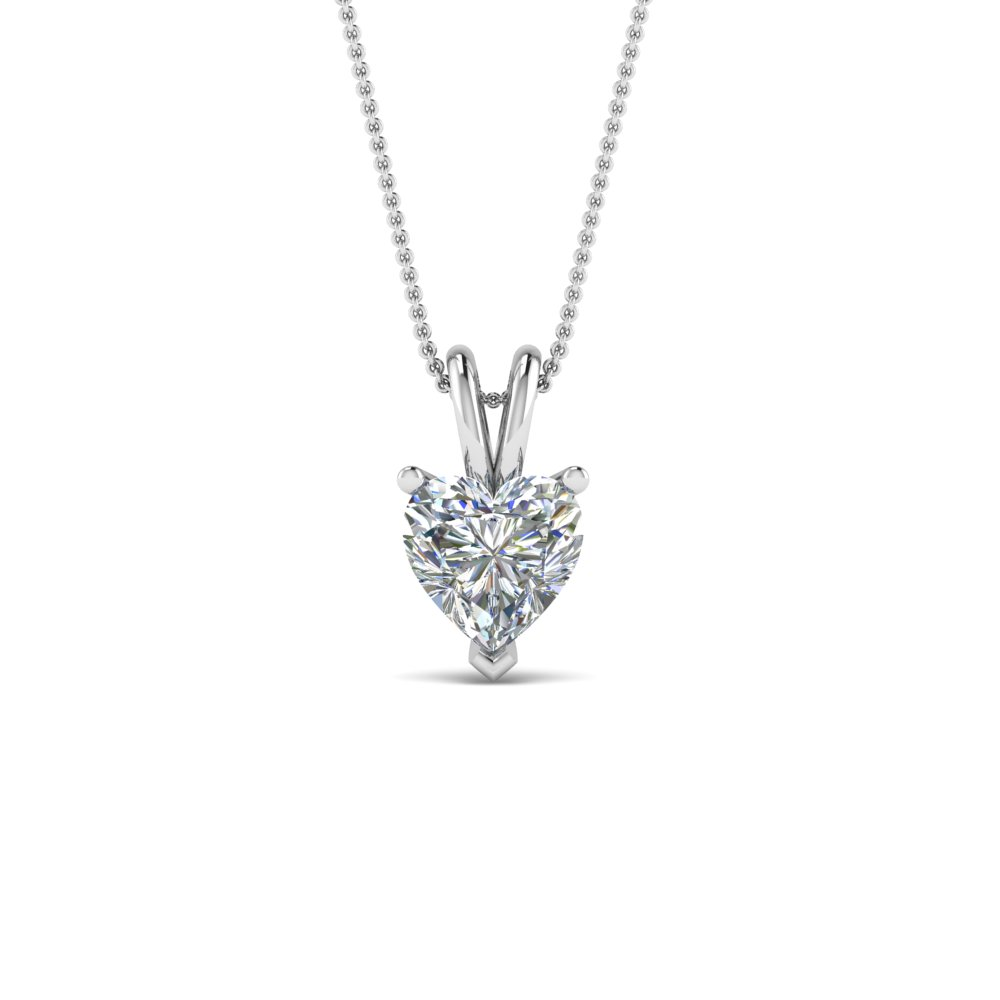 1 Ct. Single Heart Diamond Pendant