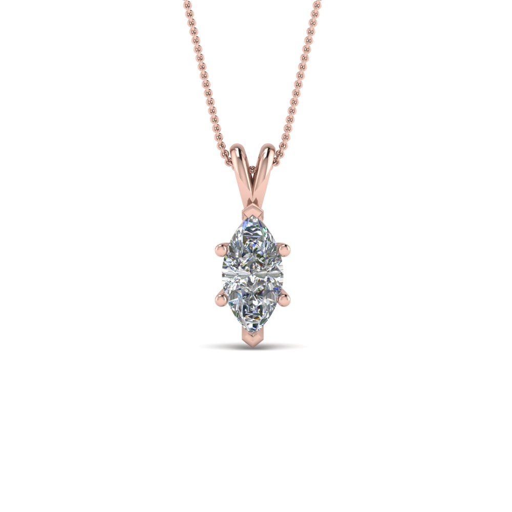 Marquise Single Diamond Pendant