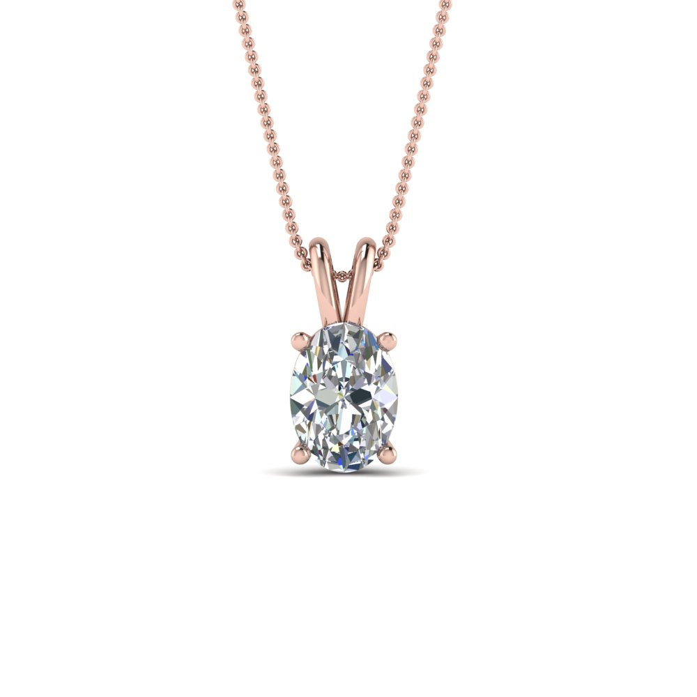 1 ct. oval single diamond pendant in FDPD8469OV1.0ct.ANGLE2 NL RG