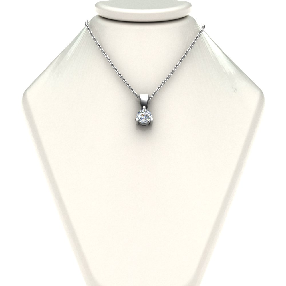 1 ct single round diamond pendant in 14k white gold fascinating add to cart sku fdpd918d the 1 carat solitaire diamond aloadofball Gallery