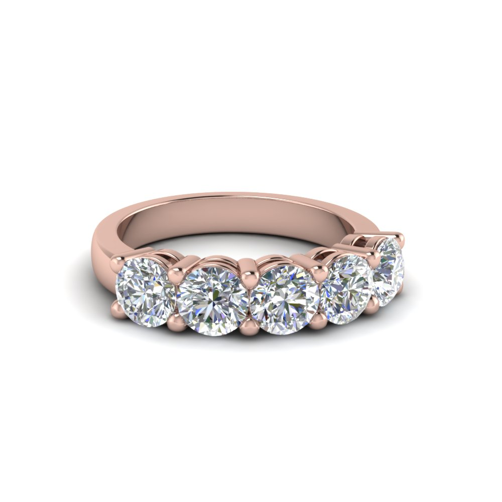 1 ct. diamond anniversary band gifts in 14K rose gold FD8008ROB 1CT NL RG