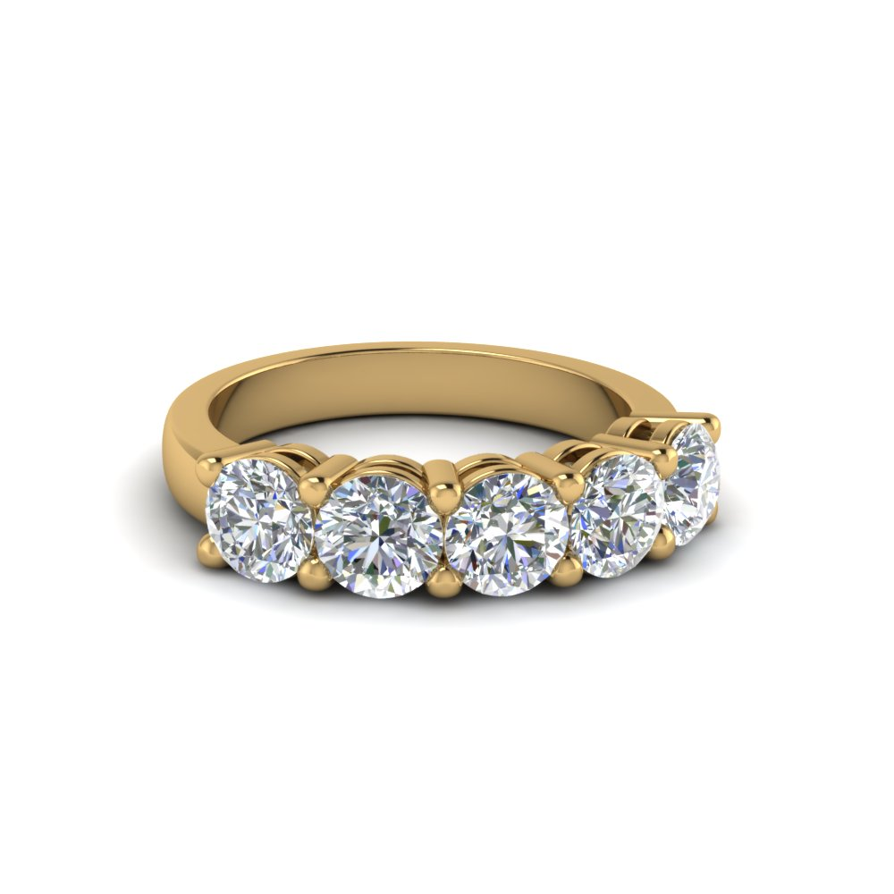 1 ct. diamond anniversary band gifts in 18K yellow gold FD8008ROB 1CT NL YG