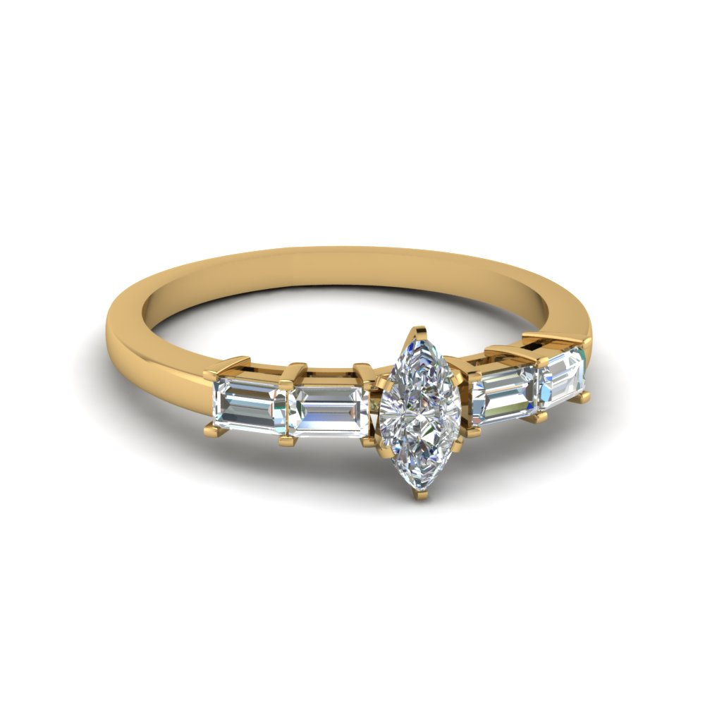Marquise Diamond Vintage Rings