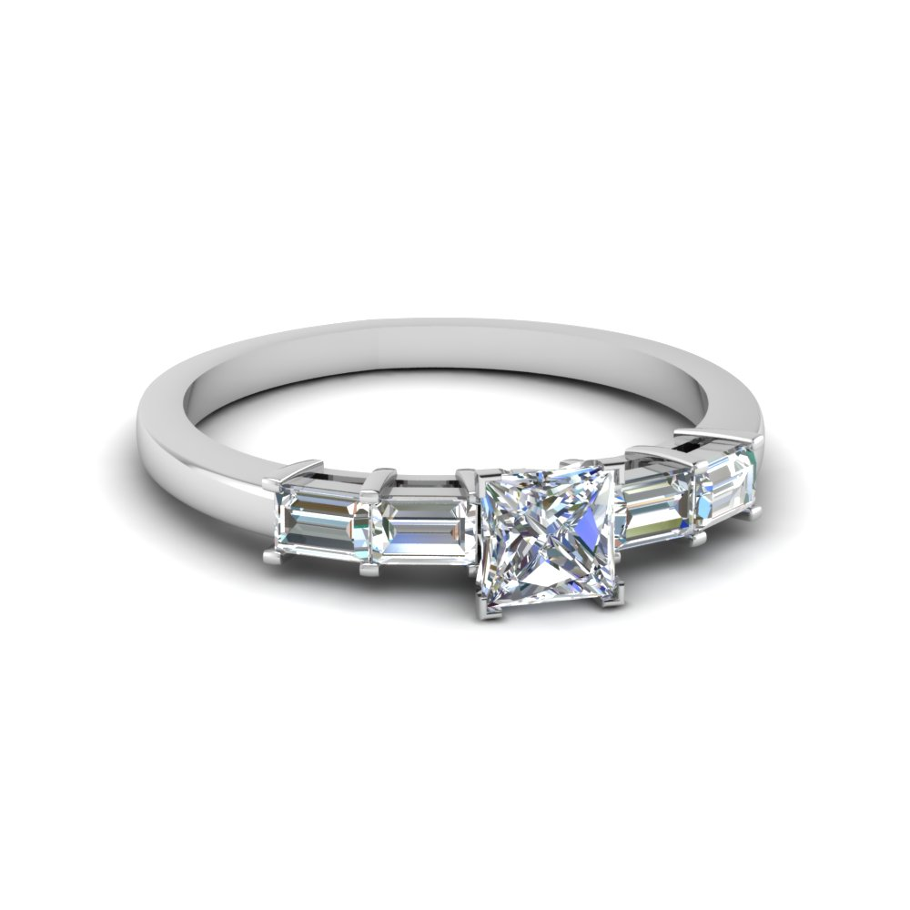 1 Ct. Basket Baguette Diamond Ring