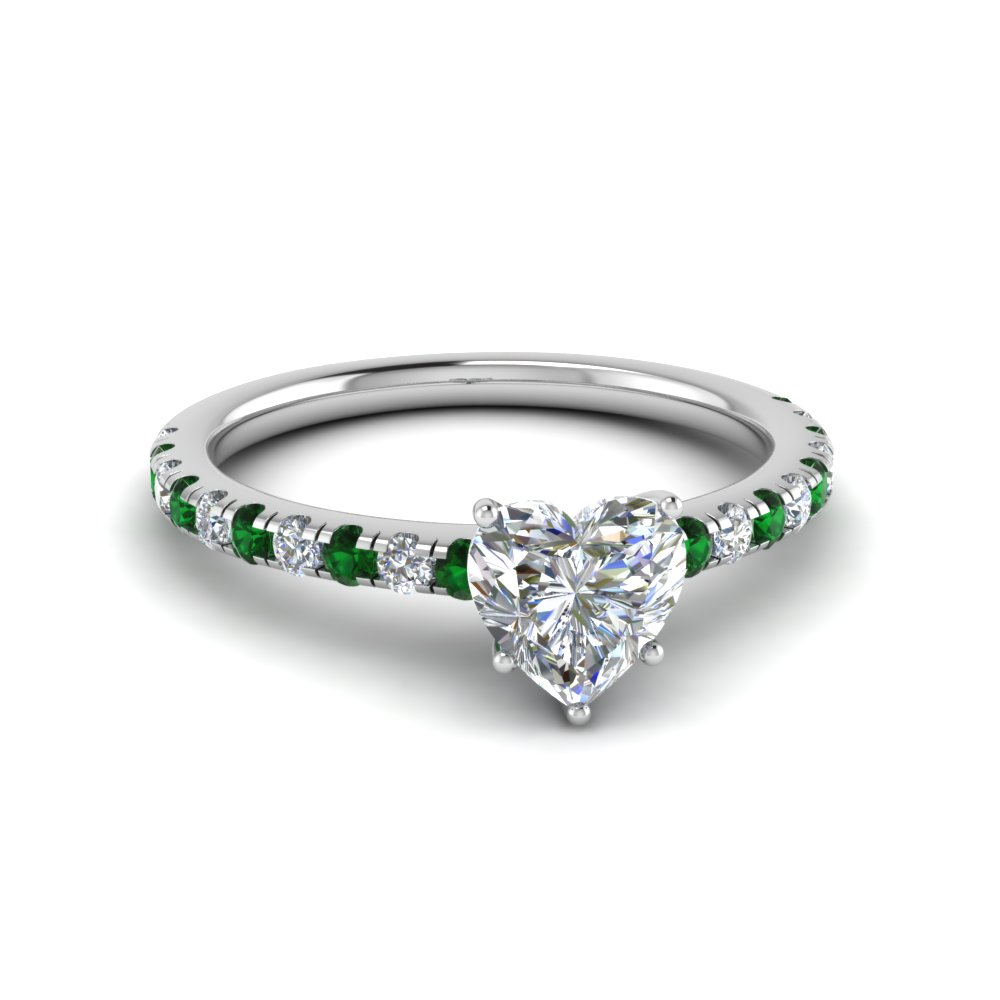 1 ct. diamond beautiful heart mom ring with emerald in FD8362HTRGEMGR NL WG.jpg