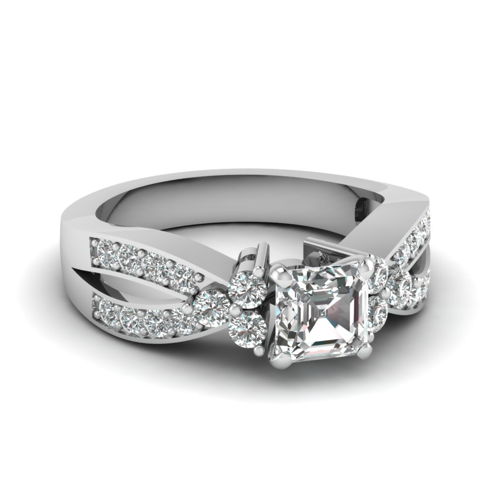 1 ct. diamond cluster accent asscher cut engagement ring in FDENR2754ASR NL WG.jpg