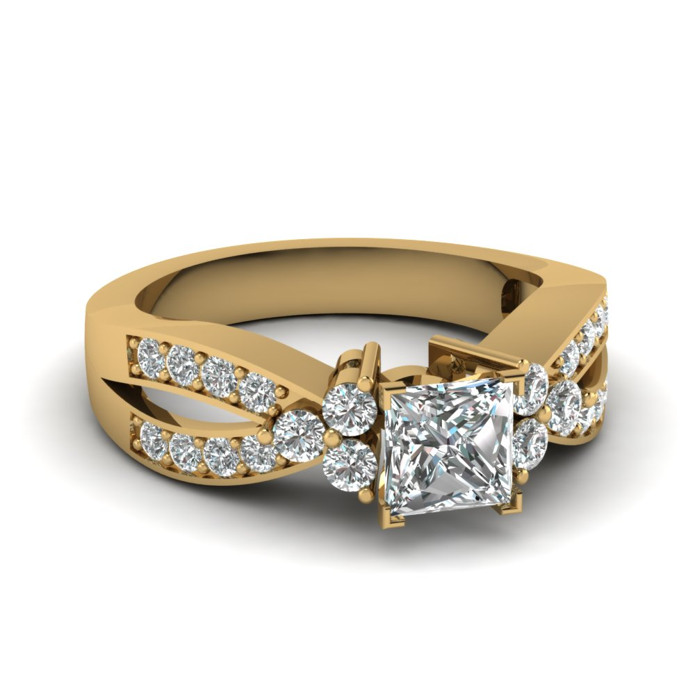 Princess Cut 1 Ct. Accent Ring