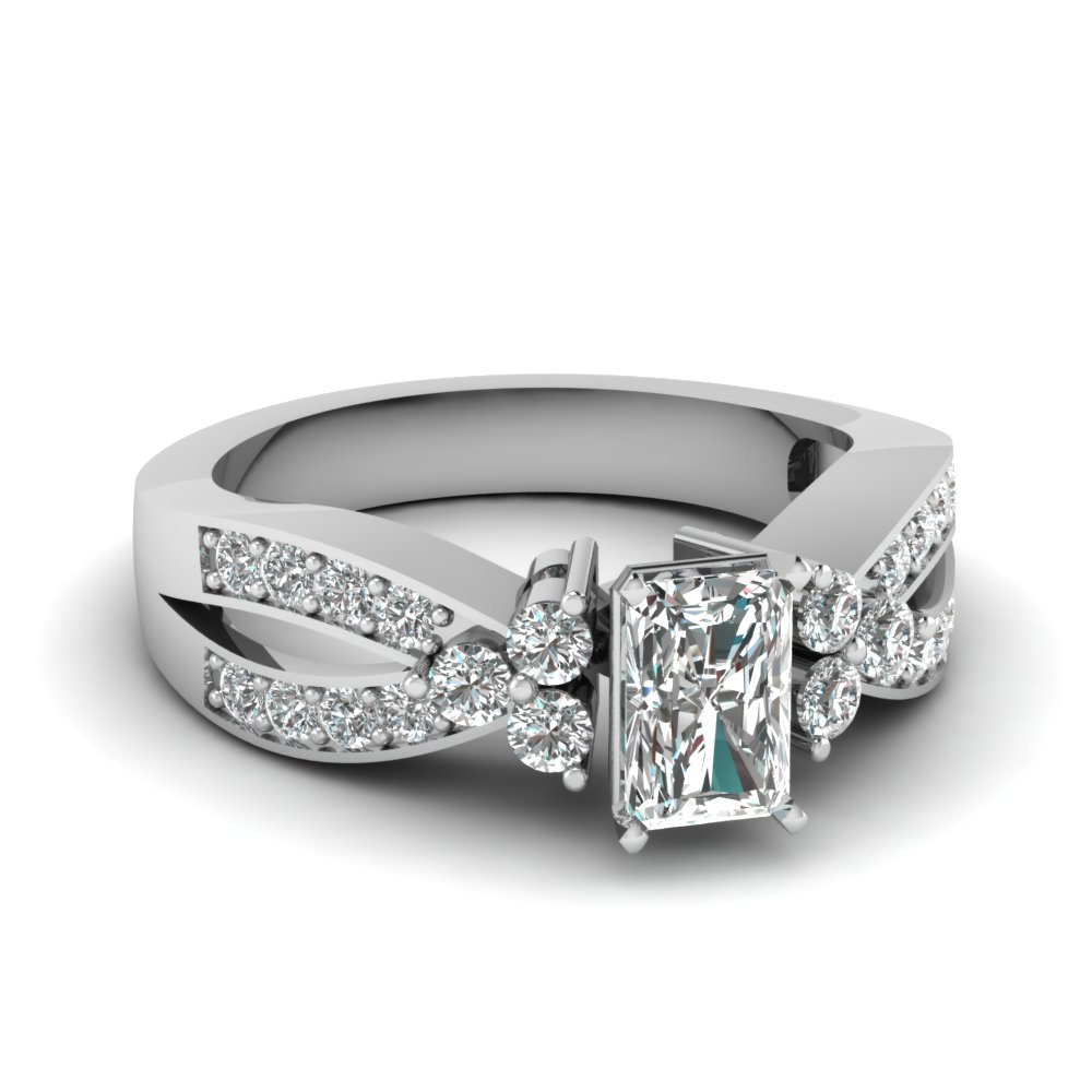 Pave Accent Radiant Cut Ring