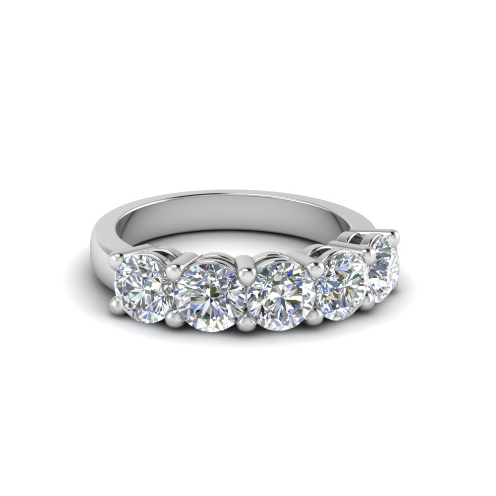 1 Ct. Diamond Five Stone Wedding Band