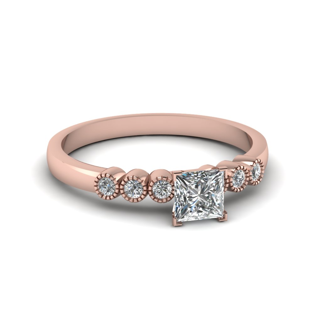 Petite Diamond Bezel Set Ring