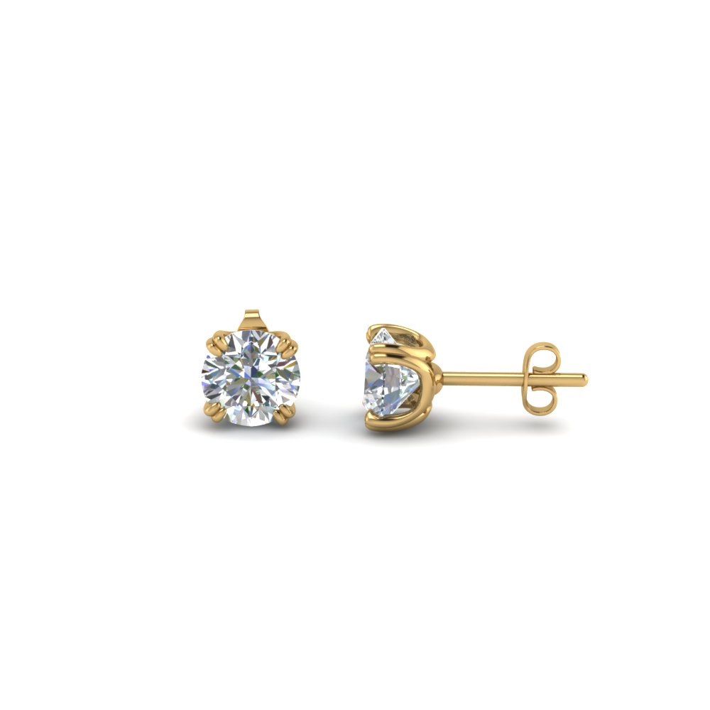 14K Gold 1 Ct. Diamond Stud Earrings