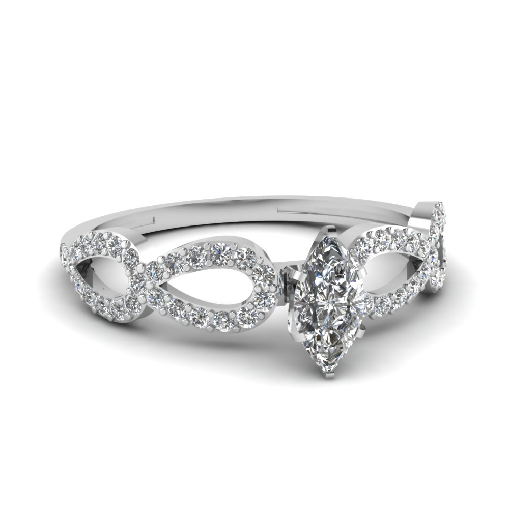 One Carat Loop Diamond Ring