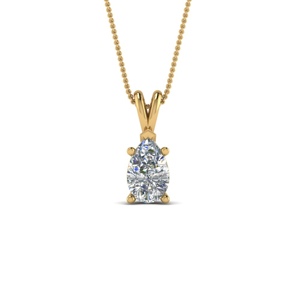 Pear Diamond Necklace Pendant