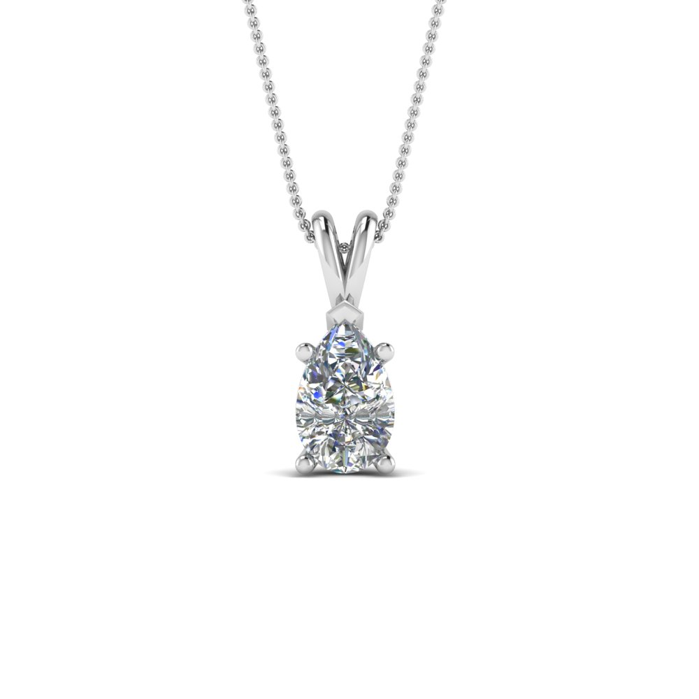 in wg diamond solitaire jewelry fascinating pendant platinum gold ct pear white necklace shaped nl