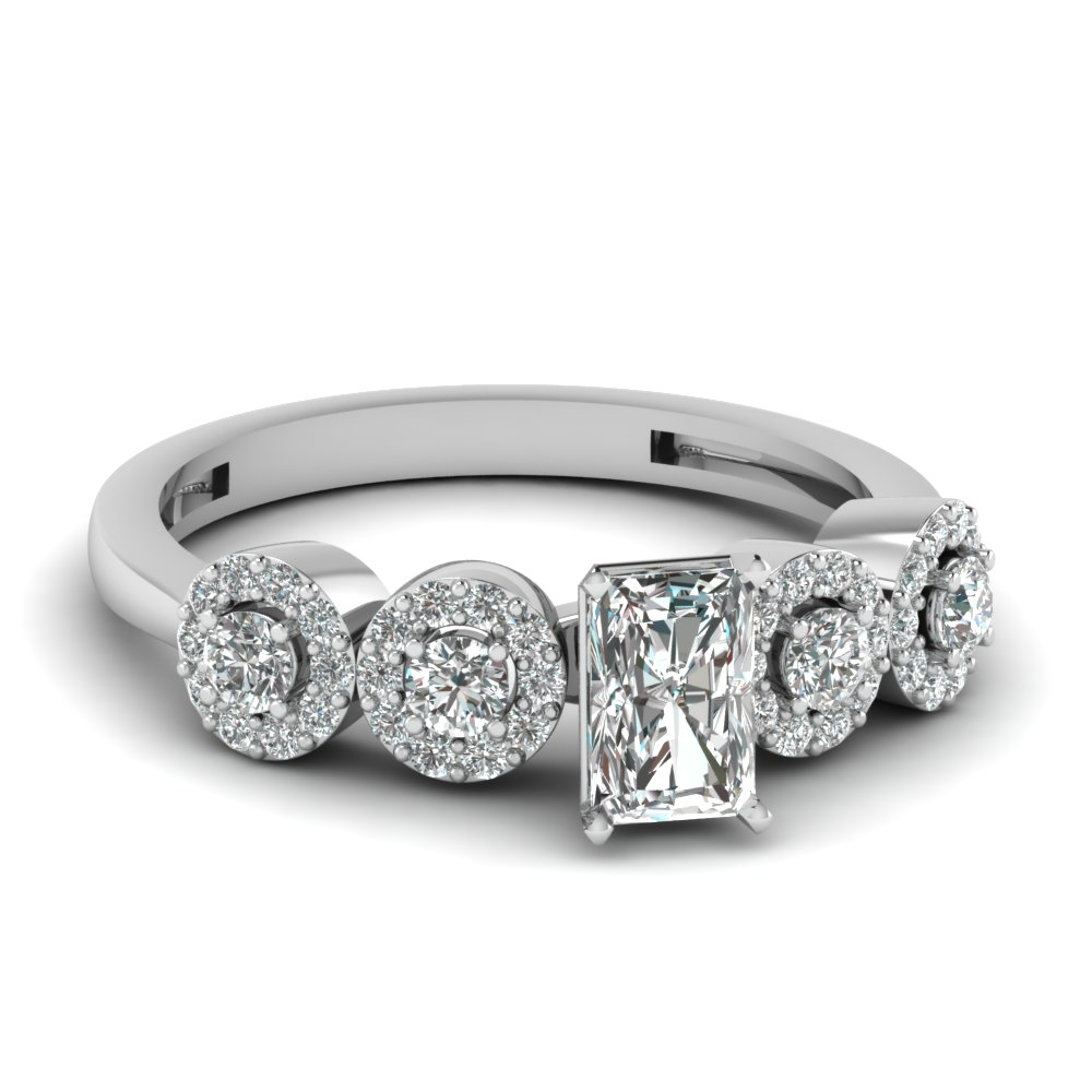 One Carat Radiant Cut Engagement Rings