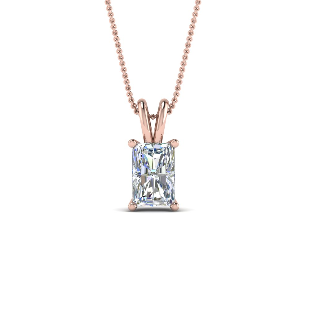 1 Ctw. Radiant Diamond Pendant