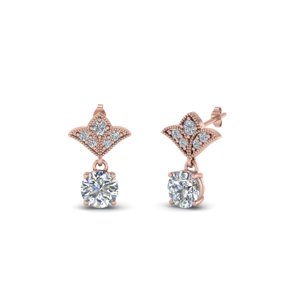 1 Ct. Art Deco Inspired Drop Earring
