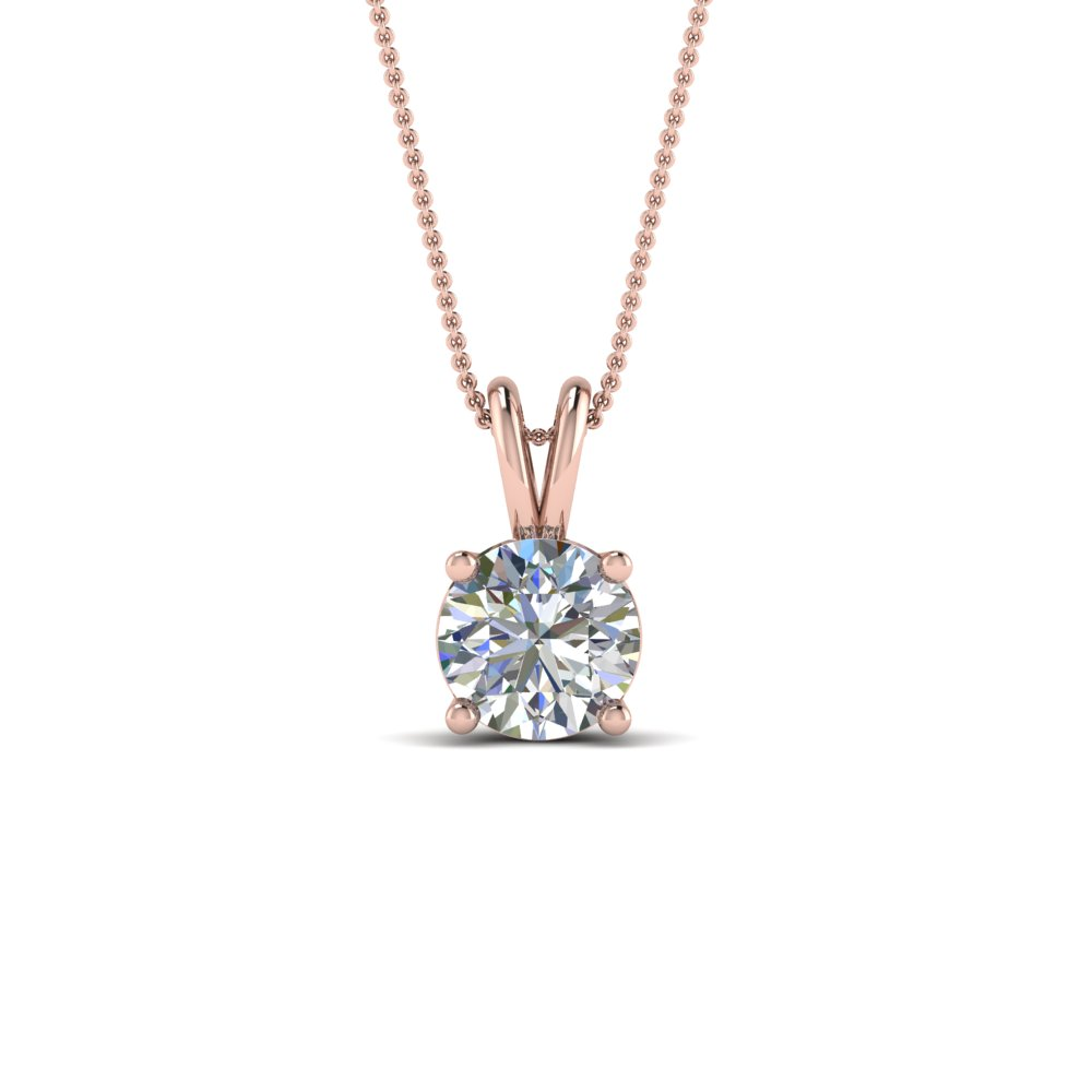 1 Karat Round Diamond Necklace