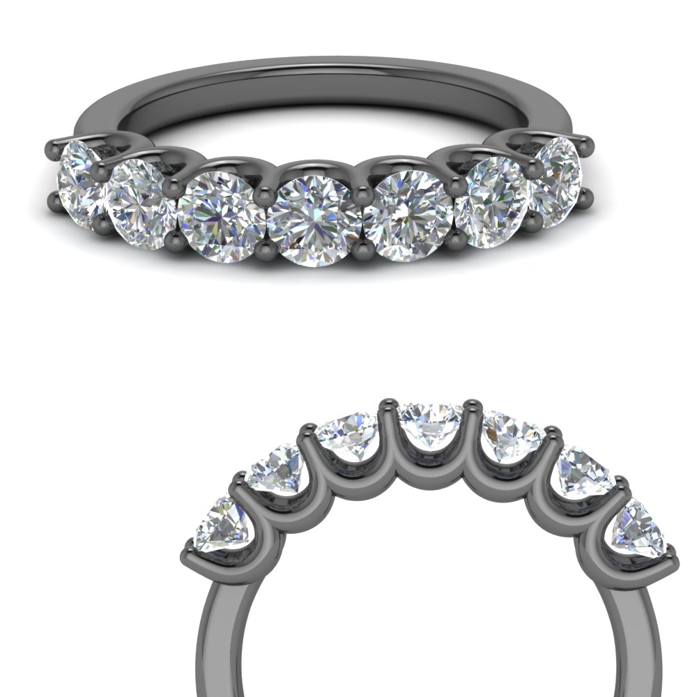 7 Stone Round Diamond Band