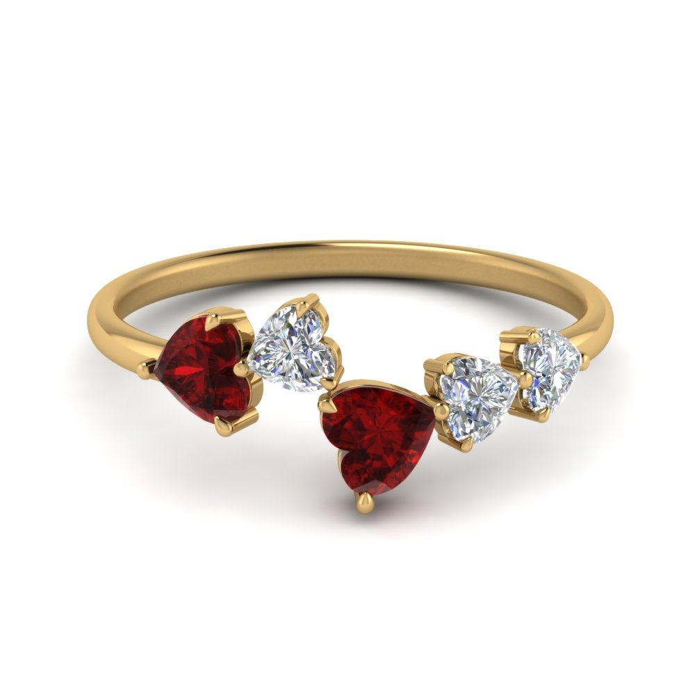1.10 Carat Heart Ring With Ruby
