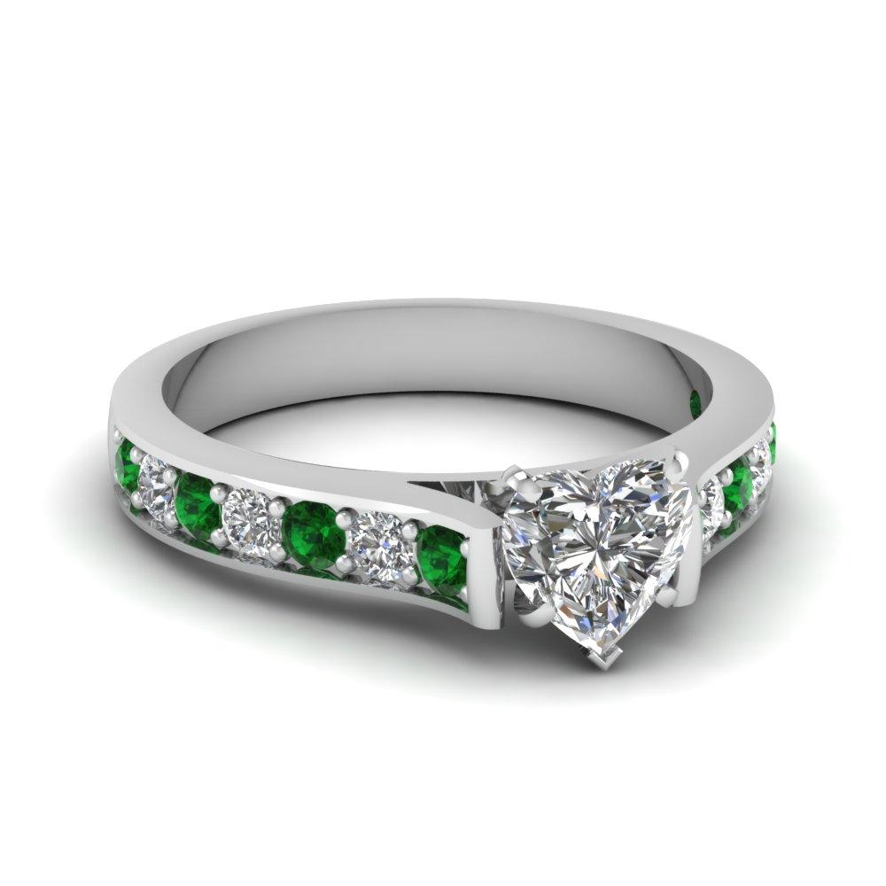 Pave Diamond Accent Ring 1.25 Carat