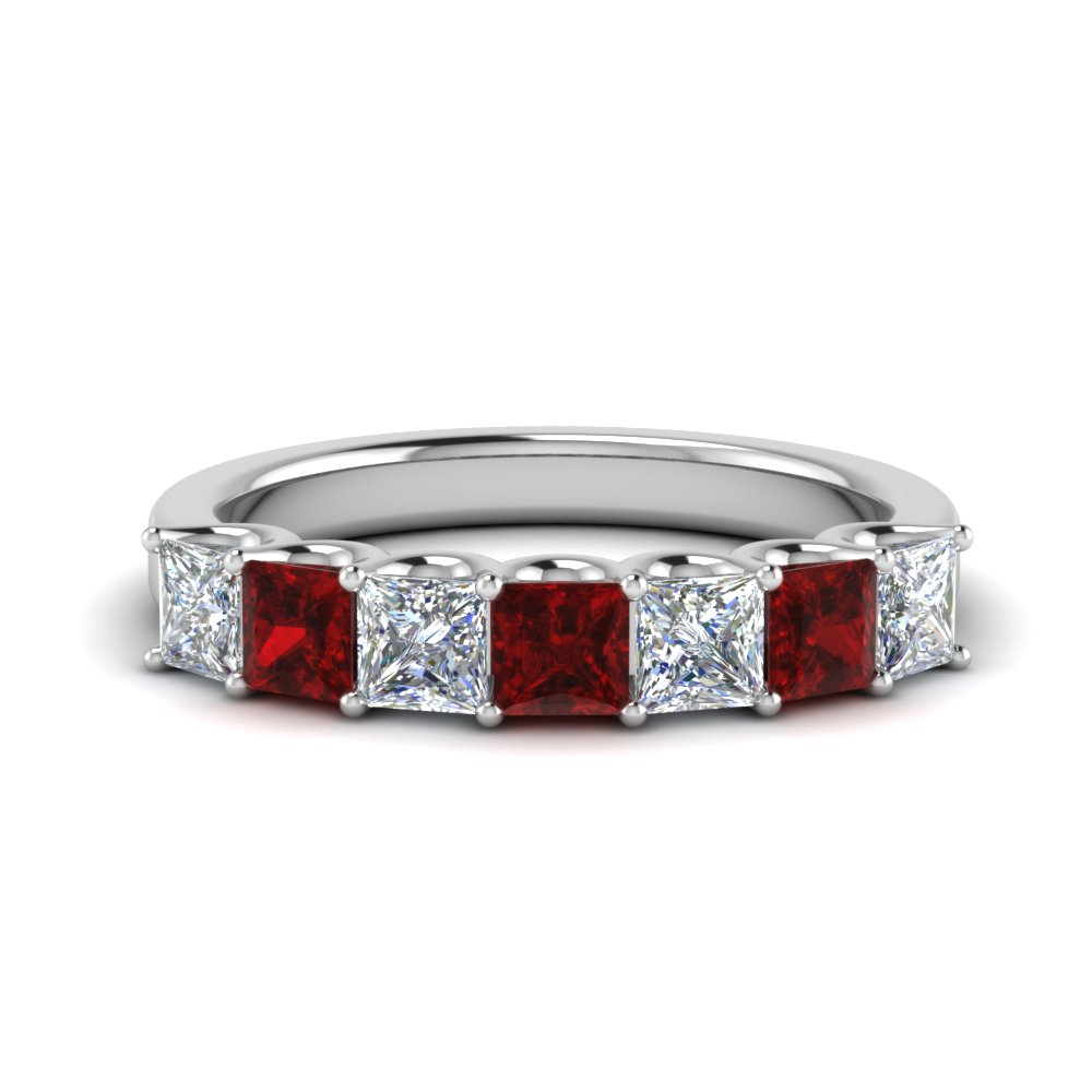 Princess Cut Classic Diamond Band
