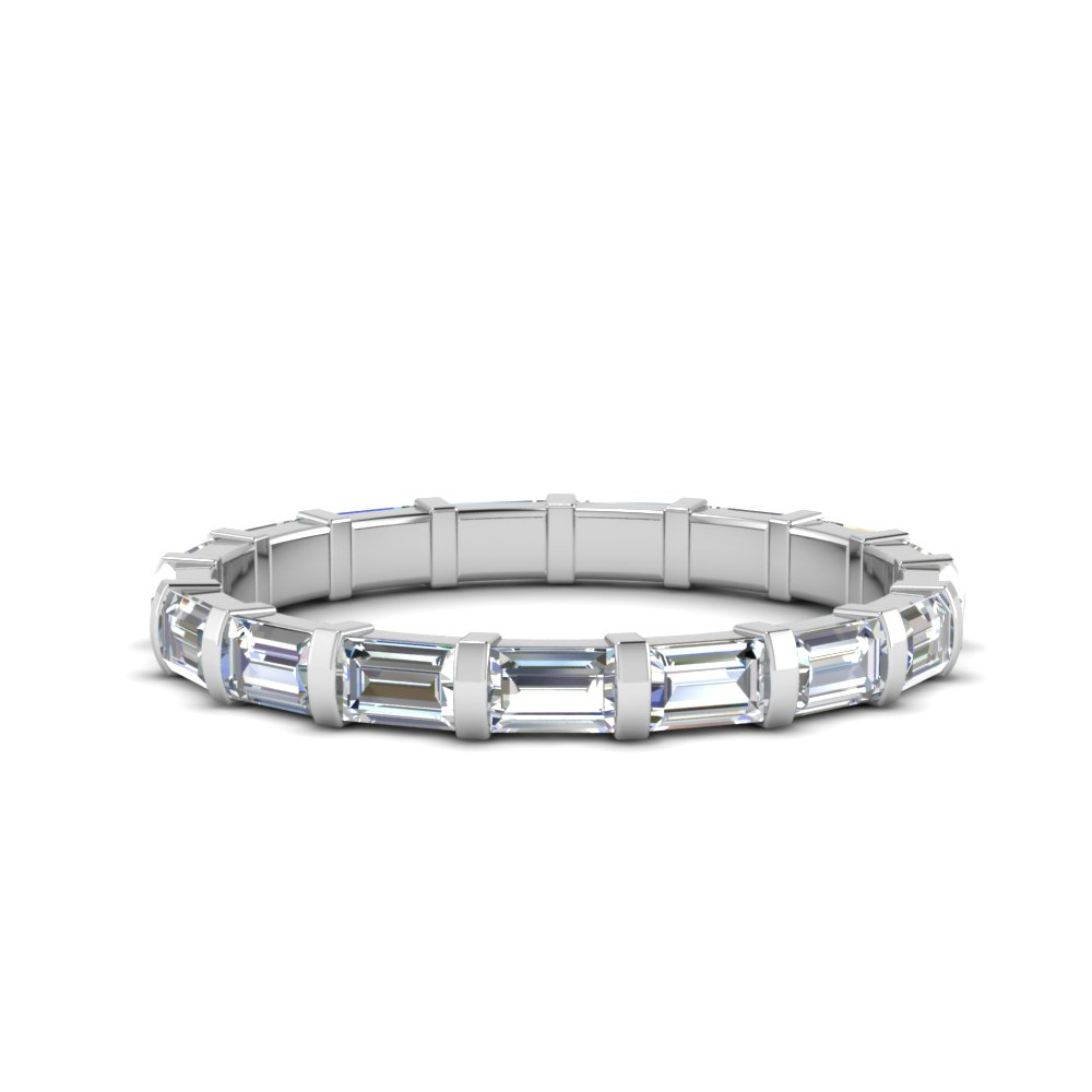 Baguette Bar Diamond Eternity Band