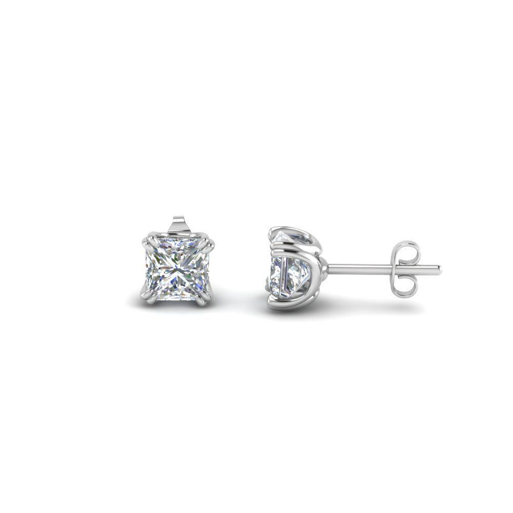 white classic carat diamond tw gold stud of with diamonds in earrings