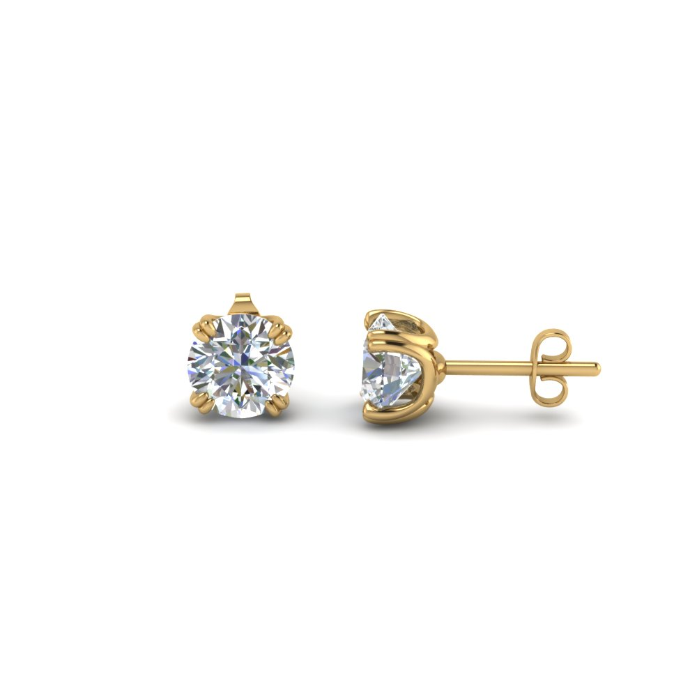 1.5 Ct. Diamond Stud Earring 14K Gold