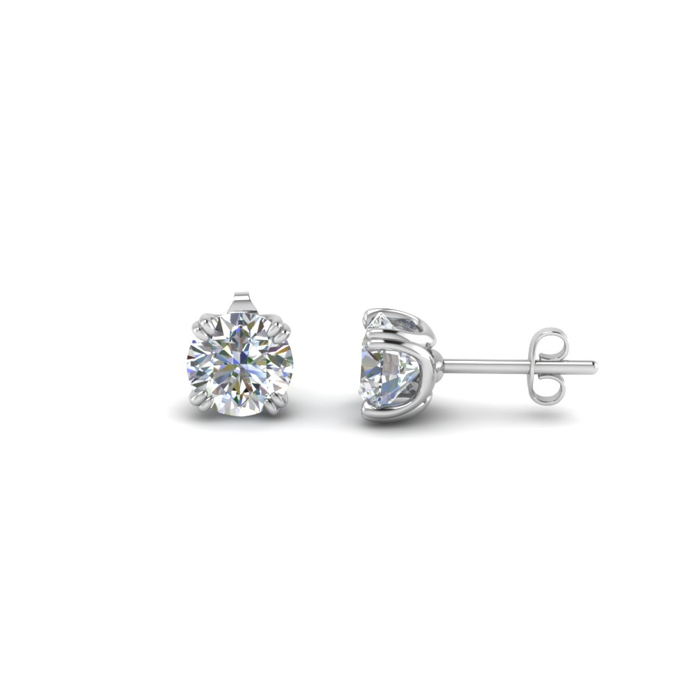 18K White Gold 1.5 Ct. Diamond Earring