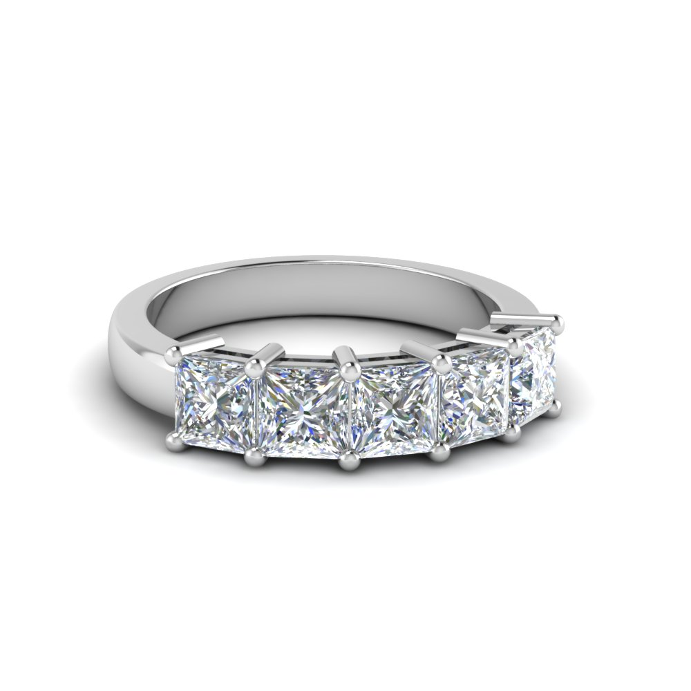 Princess Cut 5 Stone Diamond Ring