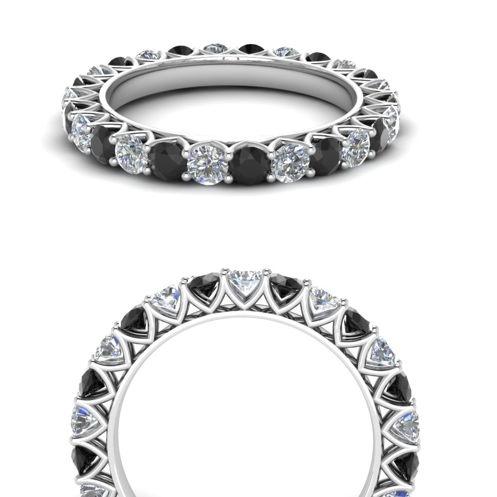 Platinum Black Diamond Eternity Band