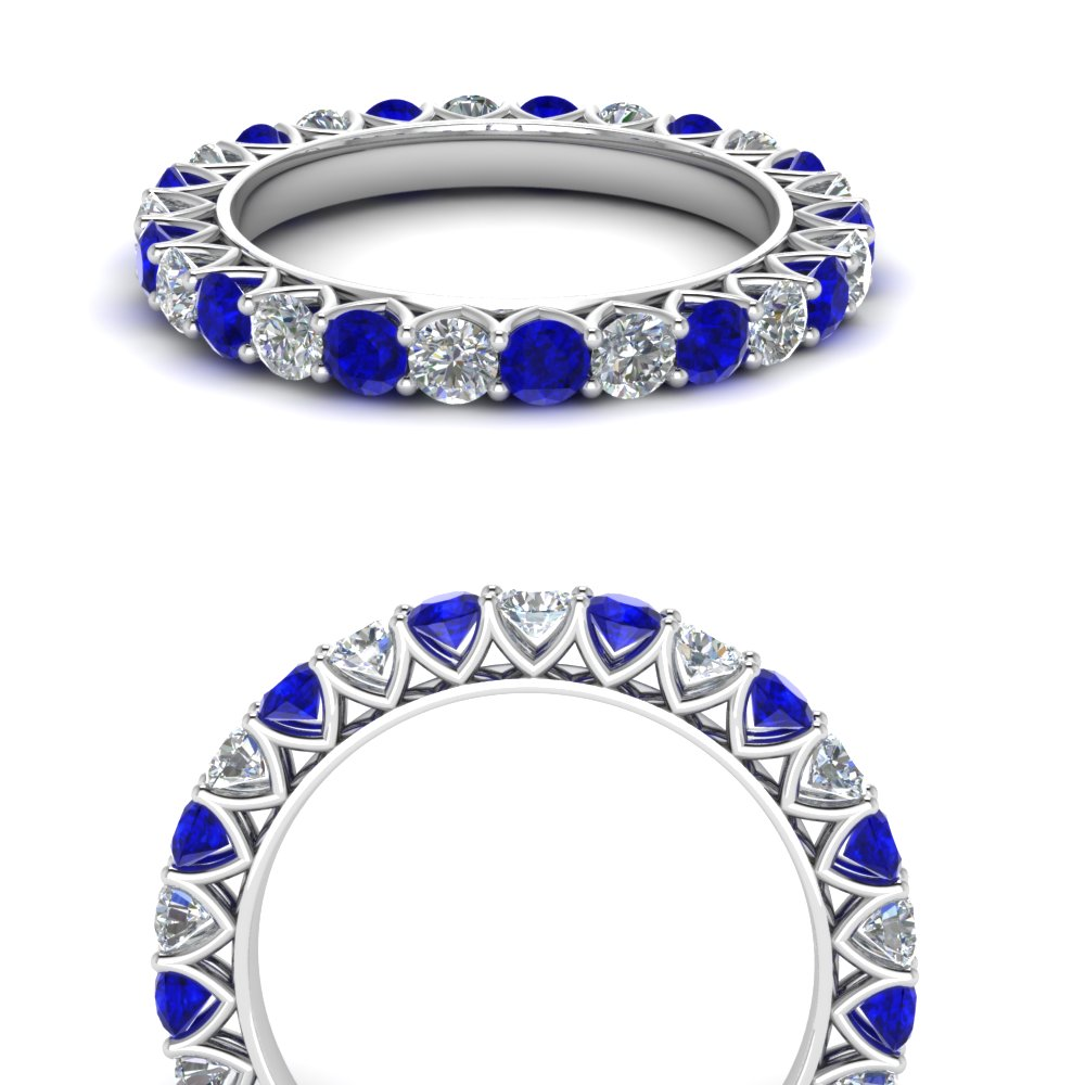 Classic Sapphire Eternity Band