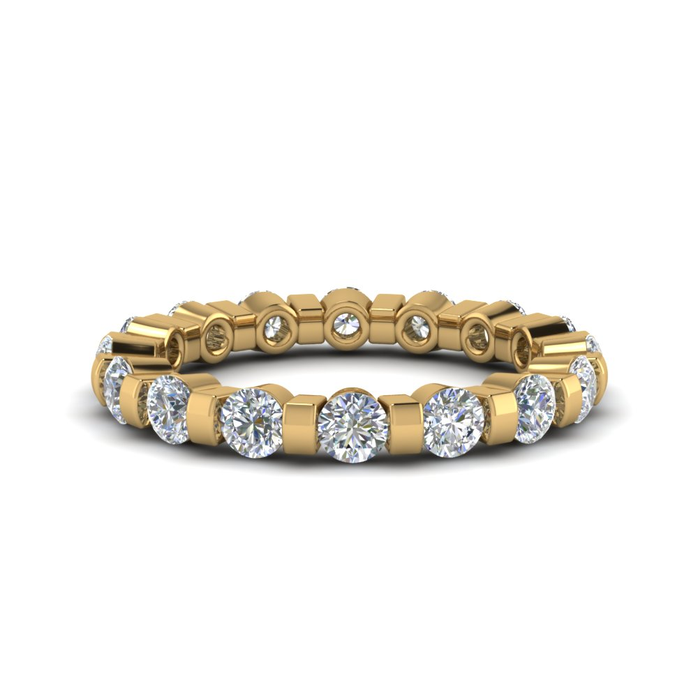 1.50 Carat Round Single Row Ring