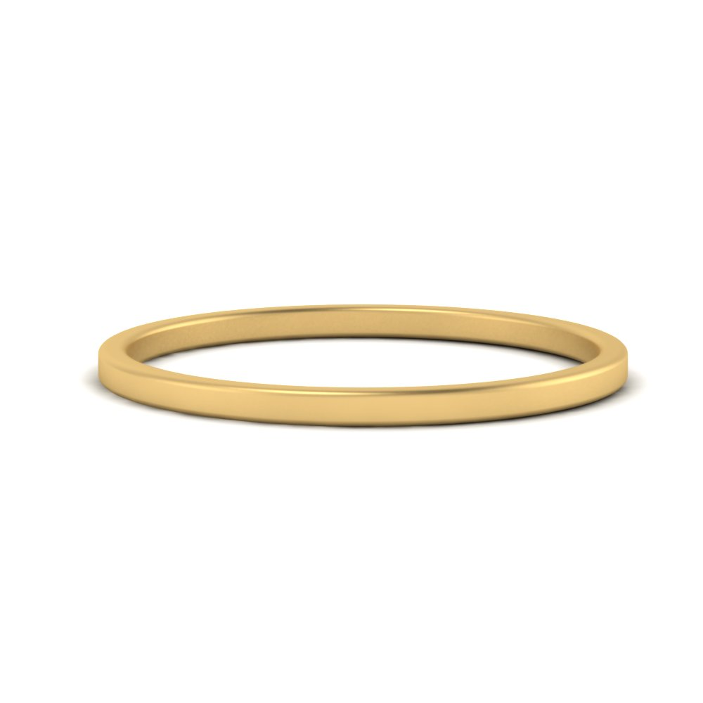 1.50 MM yellow gold simple wedding band FDB9386(1.5MM) NL YG