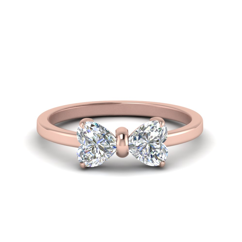 14k Rose Gold Two Stone Rings
