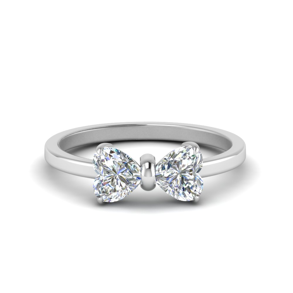 1.50 carat diamond heart promise ring in FD8238-1.5CT NL WG