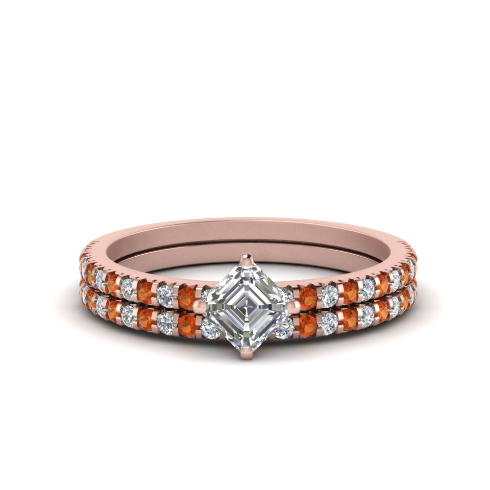 1.50-carat-kite-asscher-cut-diamond-accent-wedding-ring-set-with-orange-sapphire-in-FDENS3009ASGSAOR-NL-RG