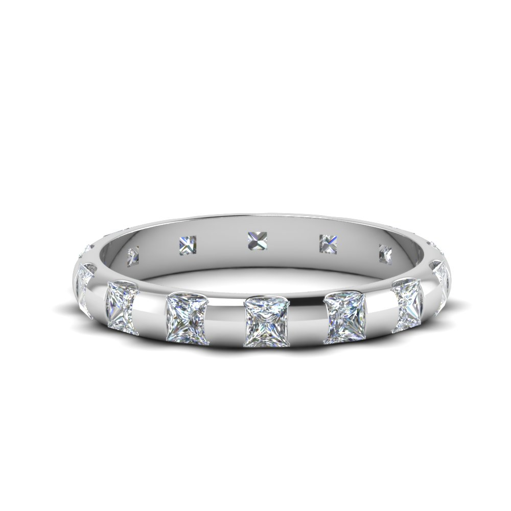 1.50 Ct. Princess Cut Bar Eternity Band