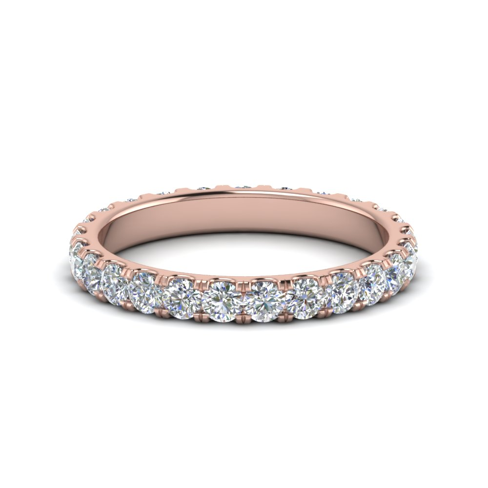 rose diamonds in band with bands anniversary wedding gold diamond